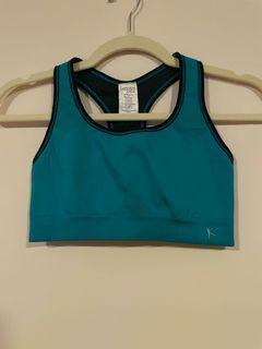 Teal green sports bra