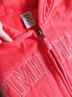 Timberland 珊瑚紅 品牌logo連帽外套