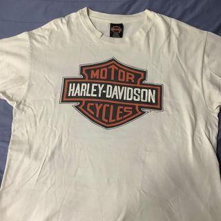 Vintage 1995 Harley Davidson White Tee