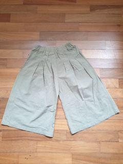 Wide Leg Khaki Green Pants for 8-10 years old girl