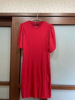 (全新)Zara 紅色連身裙