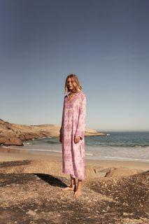 Zara midi printed tunic dress