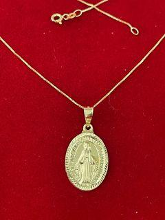 10kt Gold Solid Immaculate Necklace