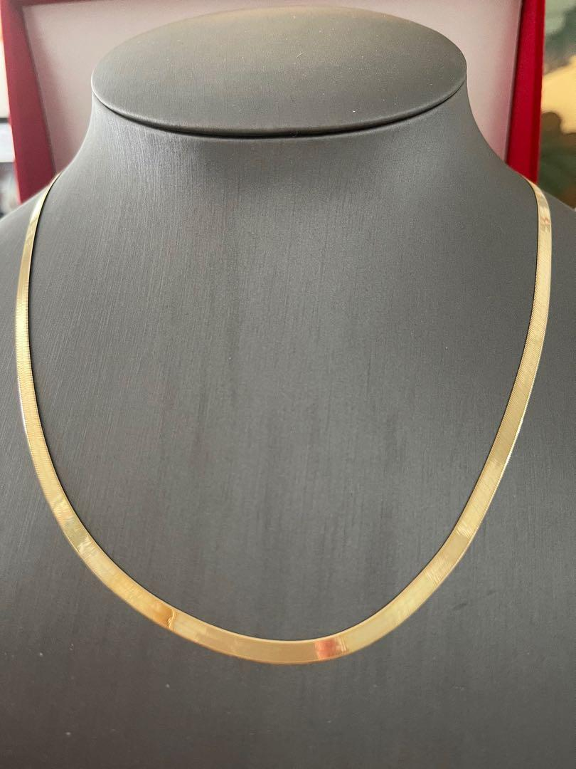 10kt yellow gold herringbone chain