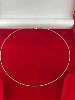 14Kt Gold Braided Herringbone Chain Necklace