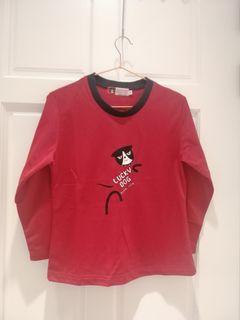 換季出清-全新童裝紅色長袖上衣