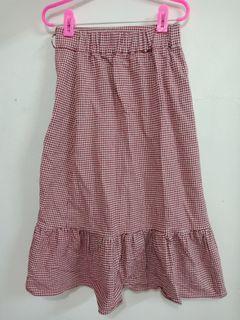 純棉格子裙子