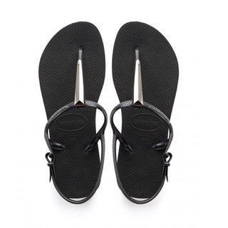#免費送 Havaianas 黑色T字金屬涼鞋 35/36