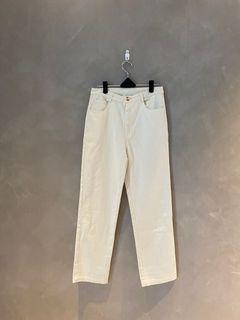 全新 MEIER.Q  MEIER Q 奶油白 白色 直筒 寬褲 牛仔褲 丹寧 直筒褲 韓系 韓版 象牙