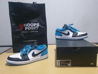 [Jarang dipakai] Air Jordan 1 Low Laser Blue kondisi lengkap