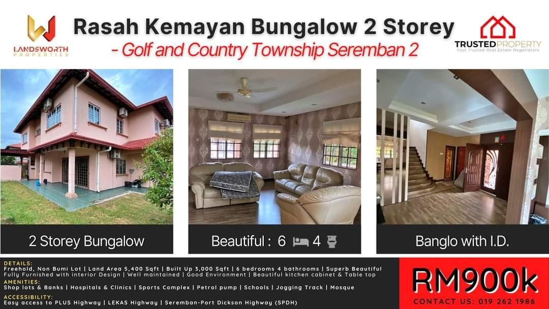Banglo 2 Tingkat Rasah Kemayan Fully Renovated with Interior Design