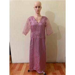 BKK long dress pearl pink NEW