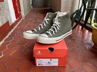CONVERSE 1970 70S ALLSTAR 三星黑標奶油底經典軍綠色帆布鞋 US6 24.5cm 162052C