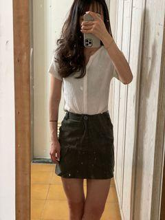 Double H軍綠褲裙
