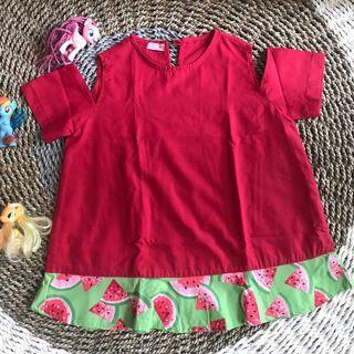 Dress semangka Size 3t