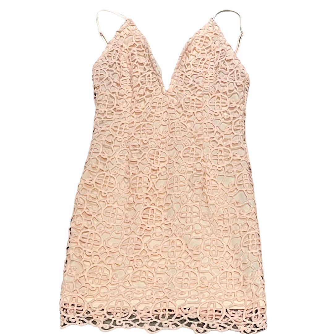 Forever 21 | Cute Pink Dress with Design Cut Outs Size Small