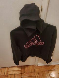 Girls XL Adidas logo hoodie black
