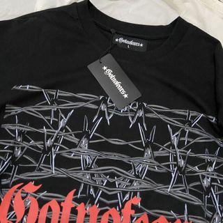 [Gotnofears]鐵絲網⛓黑色短袖上衣-L