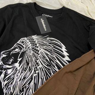 [Gotnofears]獅子🦁️假兩件長袖上衣-L