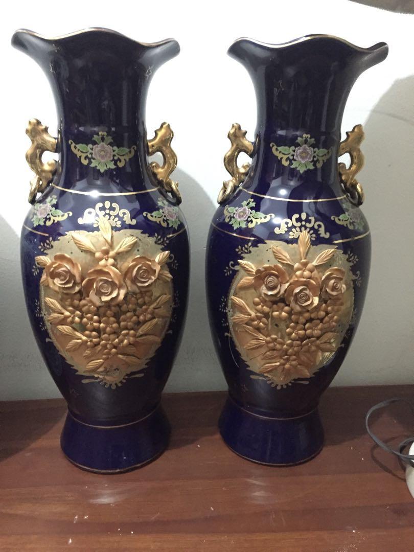 Guci keramik bunga T46cm