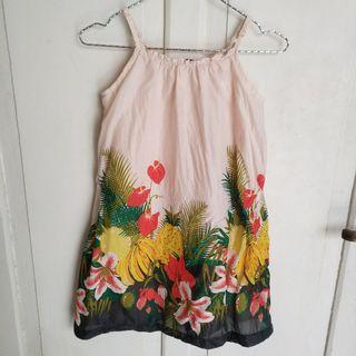 JUAL CEPAT Baju Terusan Tropical Flowers Anak Perempuan ukuran Besar