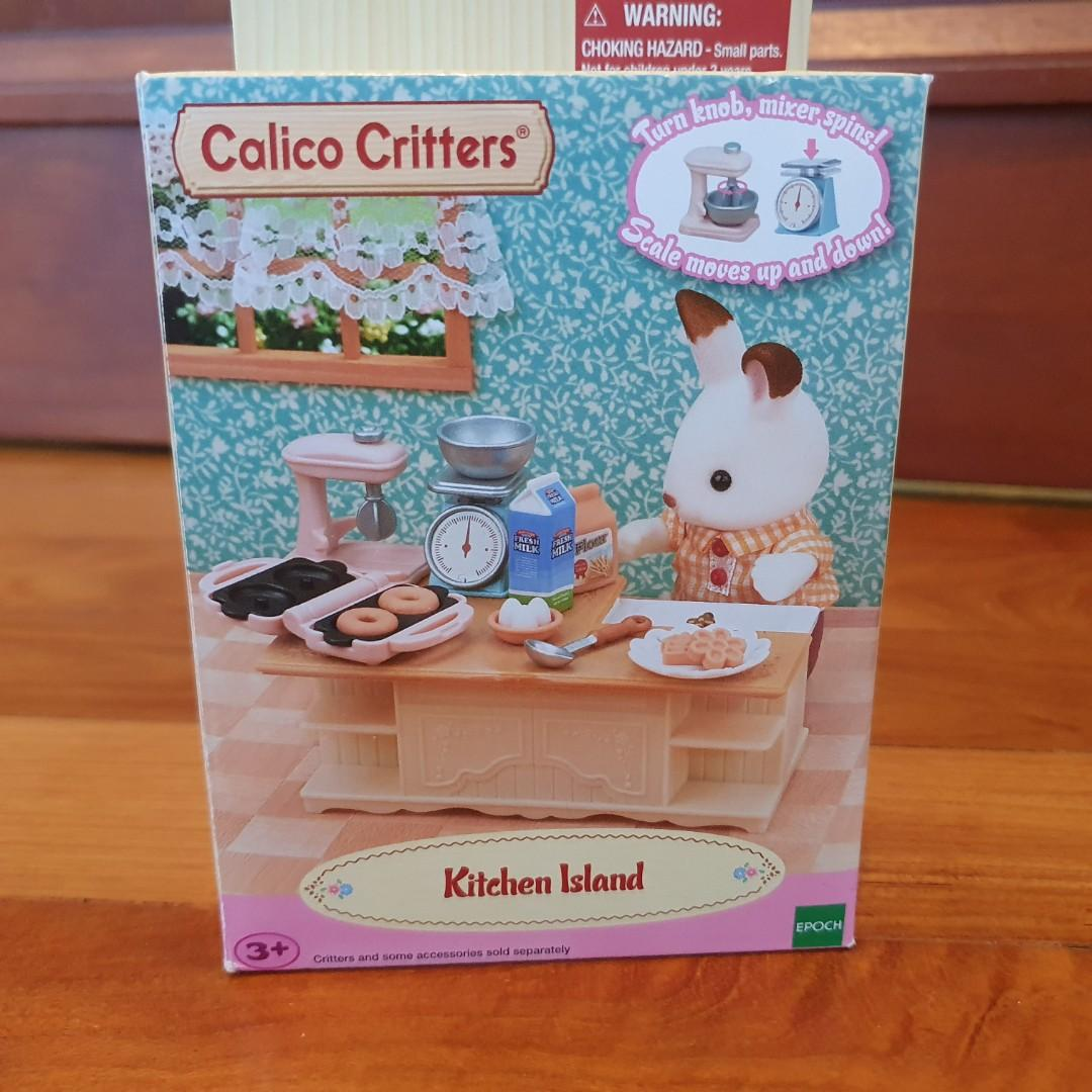 Kitchen Island Calico Critters Sylvanian Families Doll Accessories Toys Games Bricks Figurines On Carousell
