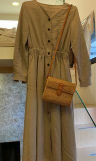 Lowry's farm 卡其長洋裝