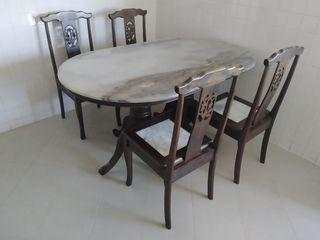 Marble Dinning table & chairs
