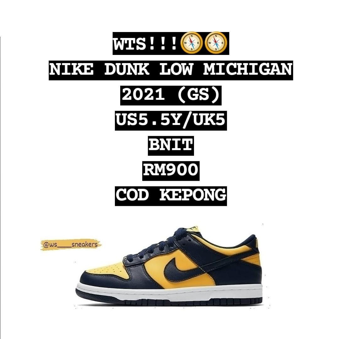 Dunk Low GS 'Michigan' 2021