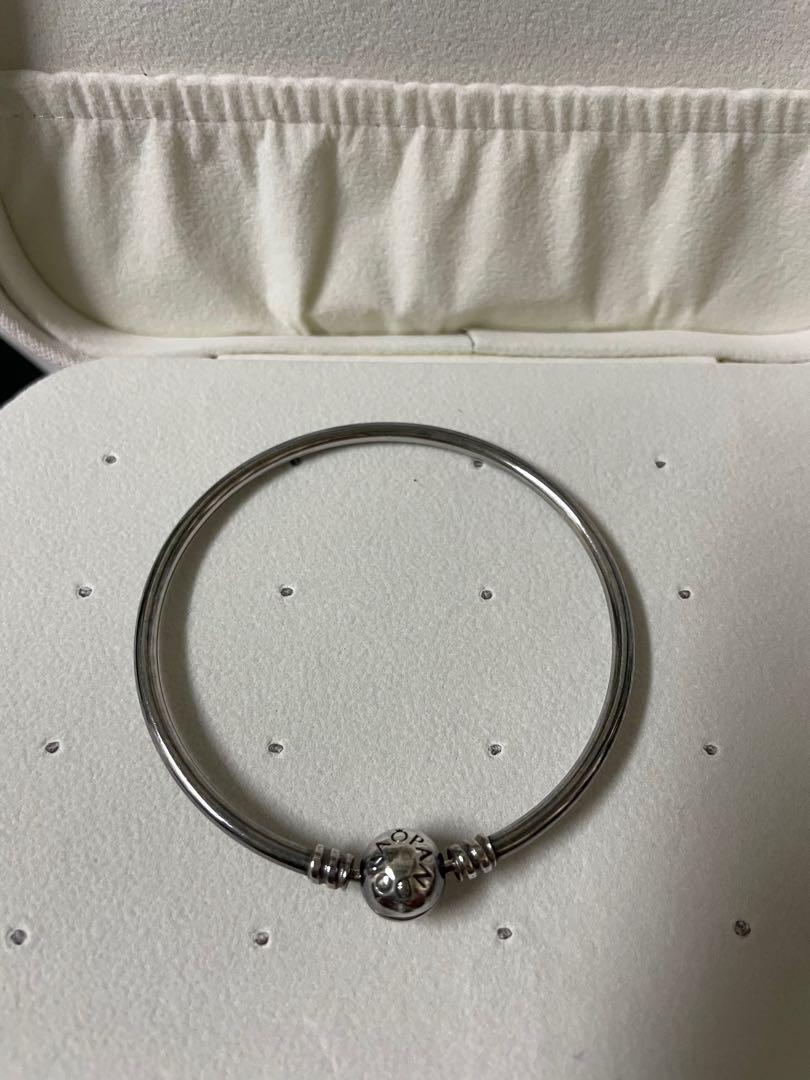 PANDORA潘朵拉銀硬圈手環/巨蛋購入/斷捨離/手鍊925純銀