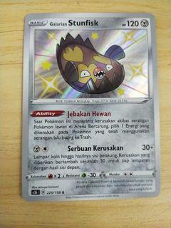 Pokemon TCG galarian stunfisk shiny