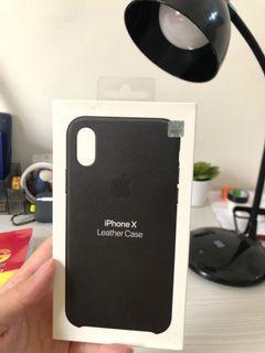[PRELOVED] Apple iPhone X Original Leather Case-Black