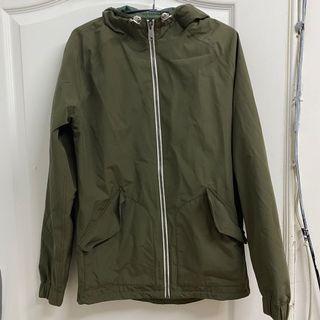軍綠色Timberland防水防風連帽外套(不分男女款)