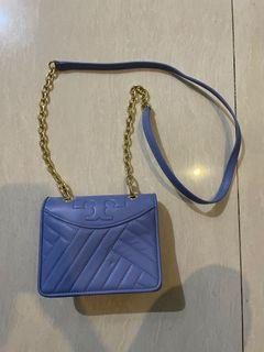 Tory Burch bag clutch tas ransel warna biru ungu branded purse dompet pochette handbag