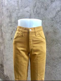 Wrangler Highwaisted Mustard Yellow Pants