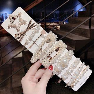 全新10件超值簡約氣質珍珠瀏海夾BB夾髮夾髮飾品