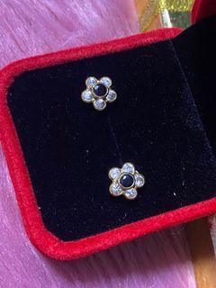 18k real gold earrings