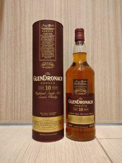 【世界威士忌大賽2020年蘇格蘭高地單一麥芽威士忌金獎】Glendronach 10 Year Old Forgue Sherry Oak Single Malt Scotch Whisky 格蘭多納10年雪梨桶單一純麥威士忌, 1000ml, 43%