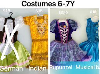 5-6Y girls dresses, thermal swimsuit, korean children socks, Halloween costumes, Ralph Lauren, Tommy Hilfiger, Hush Puppies gowns, Addidas tops