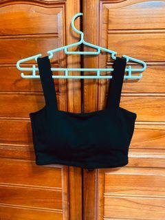 全新黑色平口短版罩杯背心