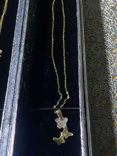 💯 18k real gold necklace with 18k pendant