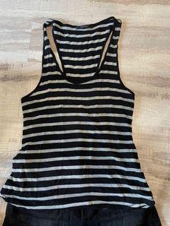 #618 日本 moussy 銀黑配色罩衫