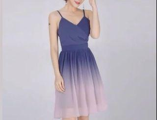 Another One Blue-Pink Ombre Short Dress