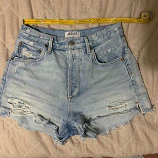 Aritzia Agolde Jaden Broken Shorts