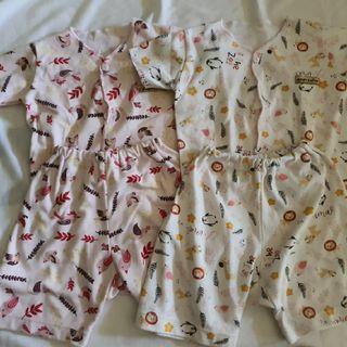 Babyi chiyo baju setelan pendek bayi perempuan