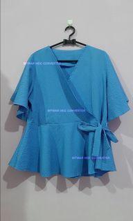 Blue Top Tali Pinggang