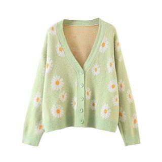 BRAND NEW floral knit cardigan