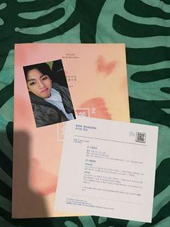 BTS HYYH PT 2 PINK VERS WITH JUNGKOOK PHOTOCARD
