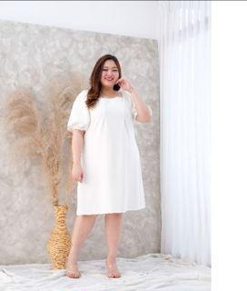 Dress white JUMBO