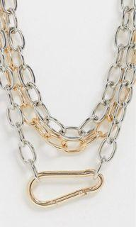 Gold & Silver Chain Necklace with Clip #NakUpgrade